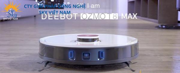 Deebot T8 Max kiểu dáng thiết kế hiện đại, bắt mắt