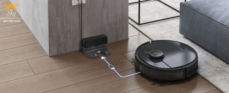 robot hút bụi sạc tự động
