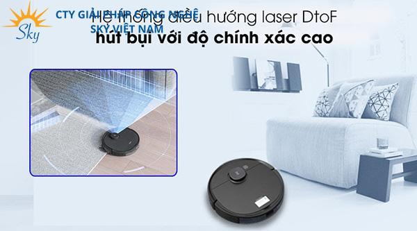Hệ thống điều hướng laser DtoF giúp hút bụi chính xác