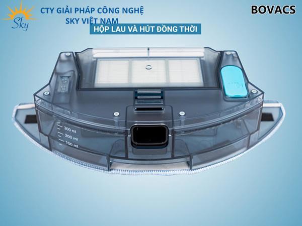 Bovacs S6 Pro sở hữu hộp bụi, hộp nước cực kỳ lớn, tiện lợi cho người dùng