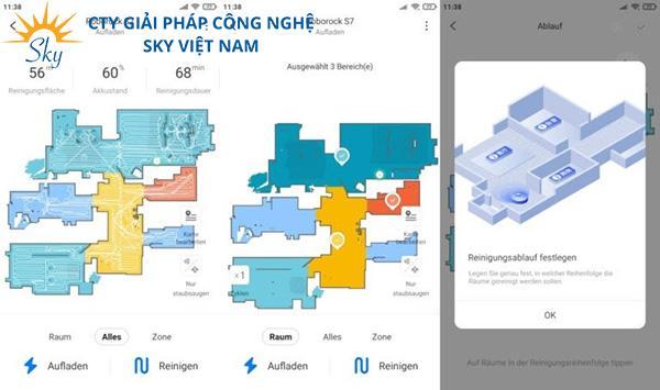 Lưu 3 bản đồ khác nhau - Roborock S7