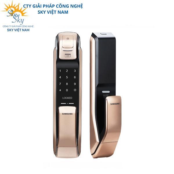 Bộ khóa cửa thông minh Samsung SHS-DP728 Gold