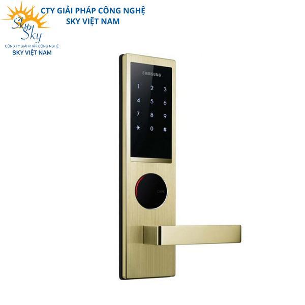 Ổ khóa cửa thông minh màu vàng đồng ấn tượng SHS-H635FMS/EN