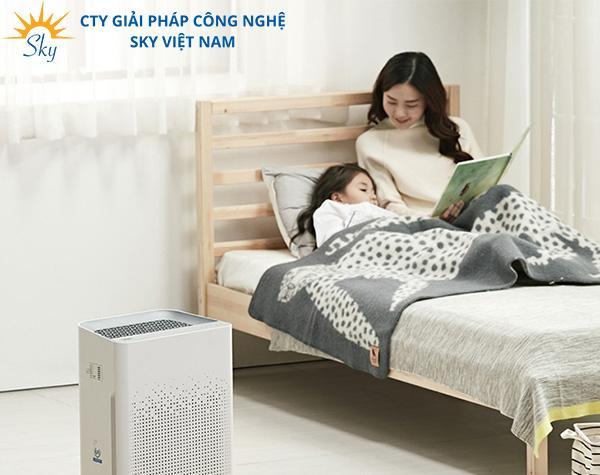 Máy lọc không khí để trong phòng ngủ