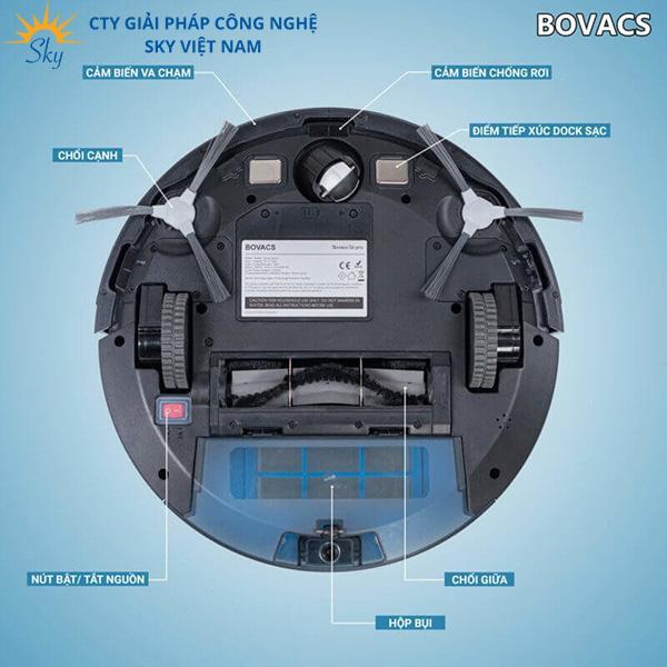 Robot hút bụi Bovacs với nhiều tính năng, công nghệ vượt trội