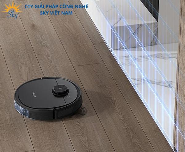 Robot hút bụi lau nhà Ecovacs giá rẻ thiết lập tường ảo thông minh