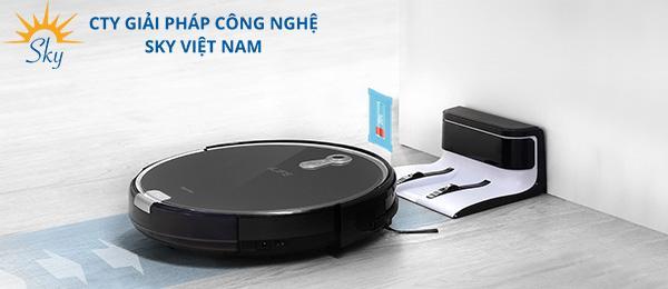 Robot lau nhà thông minh tự quay về sạc điện tự động
