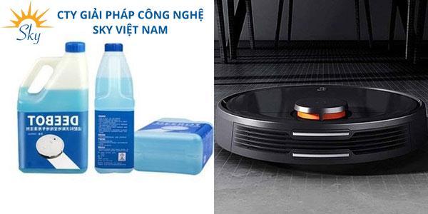 Có nên dùng nước lau sàn cho robot hay không?